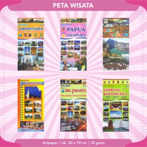 Harga peta wisata indonesia 1 buana baru   | HARGALOKA.COM