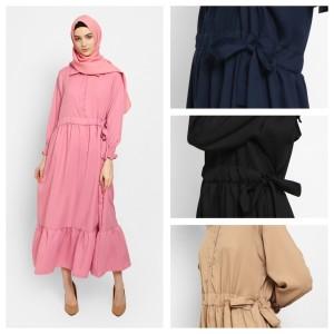 Harga kayser nihala fashion muslim baju gamis wanita terbaru dress   dusty pink all | HARGALOKA.COM
