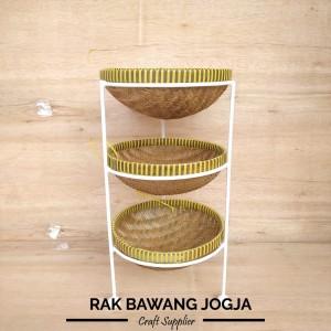 Harga rak bawang rak bumbu susun 3 rak bawang jogja   putih diameter 25   HARGALOKA.COM