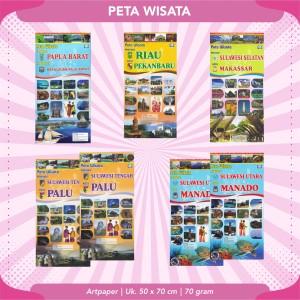 Harga peta wisata indonesia 6 buana baru   papua | HARGALOKA.COM