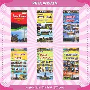 Harga peta wisata indonesia 2 buana baru   jawa | HARGALOKA.COM