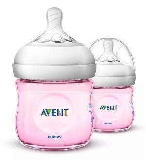 Harga philips avent scf691 23 natural twin bottle   pink 2 x 125 ml   HARGALOKA.COM