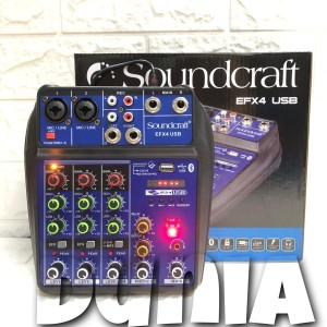 Harga mixer soundcraft efx 4 usb   bluetooth 4 channel mixer soundcraft | HARGALOKA.COM