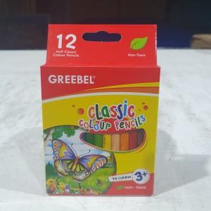 Harga greebel half classic color pencil pensil warna pendek 12 | HARGALOKA.COM