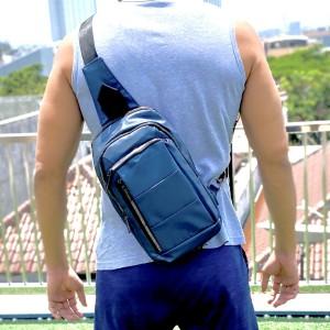 Harga tas selempang pria sling bag usb port anti air chest pack | HARGALOKA.COM