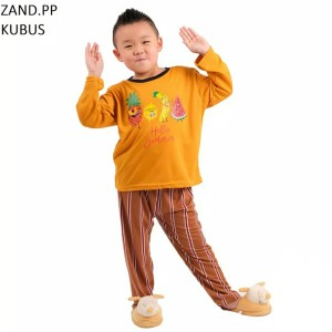 Harga setelan baju tidur anak cowok cewek lengan panjang zand pp murah   size | HARGALOKA.COM