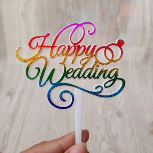 Harga Happy Wedding Anniversary Acrylic Cake Topper Katalog.or.id