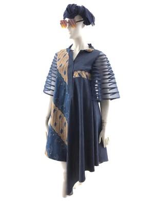 Harga dress batik gambang suling batik tulis warna alam model lengan | HARGALOKA.COM