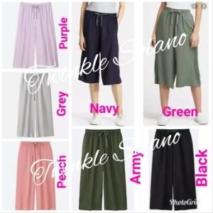 Harga relaco kulot pants celana kulot wanita branded   navy | HARGALOKA.COM