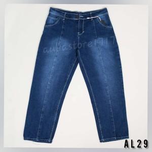 Harga celana jeans 7 9 boyfriend wanita bagy jeans celana kulot wanita   dark blue | HARGALOKA.COM
