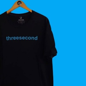 Harga baju kaos distro size xl premium threesecond bahan cotton combed 30s   hitam   HARGALOKA.COM