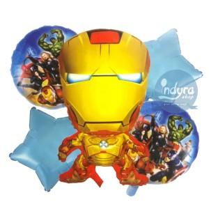 Harga balon foil iron man balon iron man 1 set balon ulang tahun | HARGALOKA.COM