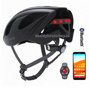 Harga helm sepeda hp smart4u bluetooth phone speaker light usb sos   black 55 | HARGALOKA.COM