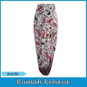 Harga rok bawahan batik print wanita lilit halus serut hisako 034   | HARGALOKA.COM
