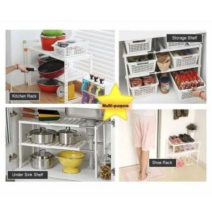 Harga rak dapur susun premium multifungsi multifunction   HARGALOKA.COM