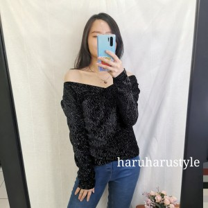 Harga baju atasan wanita cewe lengan panjang pesta party import | HARGALOKA.COM