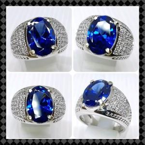 Harga cincin king safir istimewa dengan ring alpaka yg super mewah   | HARGALOKA.COM
