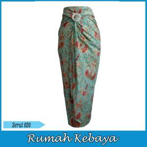 Harga rok bawahan batik wanita lilit halus royal print serut 020   | HARGALOKA.COM