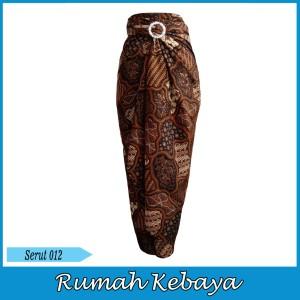 Harga rok batik wanita bawahan lilit halus royal print serut 012   | HARGALOKA.COM