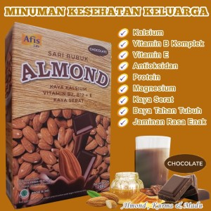 Harga afis sari bubuk almond kurma madu susu almond untuk anak amp dewasa   | HARGALOKA.COM