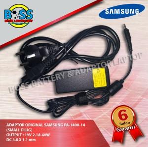 Harga adaptor original samsung pa 1400 14 small plug 19v 2 1a 3 0x1 | HARGALOKA.COM