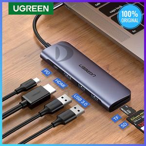 Harga ugreen 70411 hub 6in1 usb 3 0 type c hdmi 4k card reader sd tf | HARGALOKA.COM
