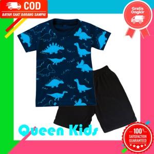 Harga setelan baju anak kaos anak laki laki dino fullprint 1   10 tahun   1 | HARGALOKA.COM