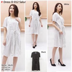 Harga dress salur midi hitam putih bunkashop   | HARGALOKA.COM