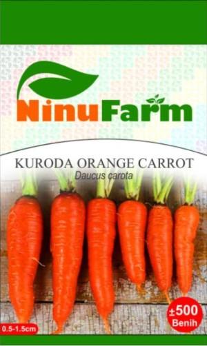 Harga bibit wortel kuroda kuroda orange carrot ninufarm kemasan | HARGALOKA.COM