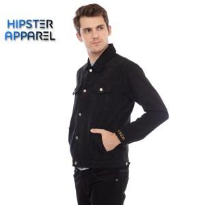 Harga original jaket jeans hipster warna hitam   hitam   HARGALOKA.COM