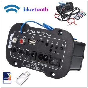 Harga amplifier board audio bluetooth usb fm radio tf player subwoofer | HARGALOKA.COM