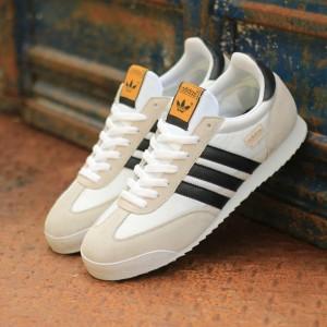 Harga discount terlaris sepatu adidas dragon white black original   putih | HARGALOKA.COM