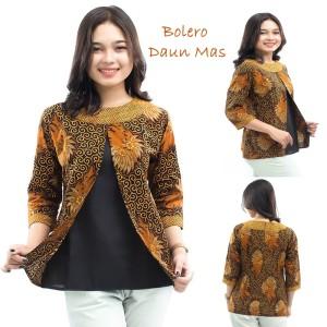 Harga blouse batik wanita model bolero atasan batik blouse batik   | HARGALOKA.COM