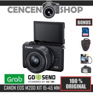 Harga free canon eos m200 kit 15 45mm is stm mirrorless m 200 4k   HARGALOKA.COM