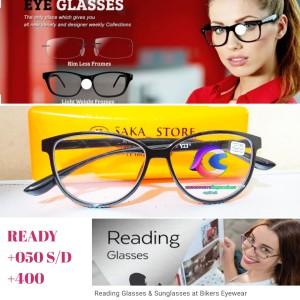 Harga kacamata baca model cat eyes 100 s d 400 ready frame baca plus   | HARGALOKA.COM