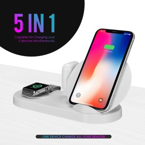 Harga docking 5in1 watch wireless charger support all | HARGALOKA.COM