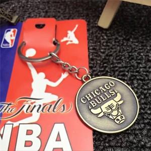 Harga gantungan kunci   nba team logo shield metal stainless keychains     HARGALOKA.COM