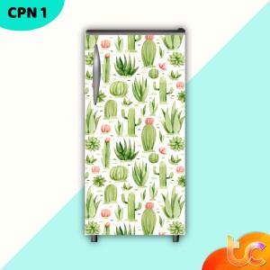 Harga stiker kulkas 1 pintu dan 2 pintu   cactus pattern   1pintu | HARGALOKA.COM