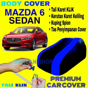 Harga sarung mobil mazda 6 sedan list biru body cover penutup mazda | HARGALOKA.COM