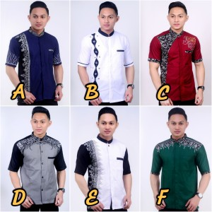 Harga baju koko bordir pria   atasan koko kombi batik   lengan | HARGALOKA.COM