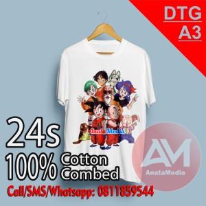 Harga sablon kaos 24s custom dtg a3 full color murah bisa satuan   | HARGALOKA.COM