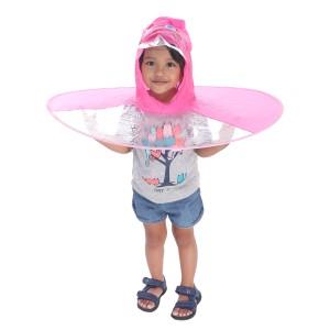 Harga topi hujan topi jas hujan topi payung model ufo   merah | HARGALOKA.COM