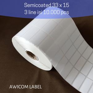 Harga label barcode semicoated 33x15 33 x 15 mm 3 line core 1 34 isi | HARGALOKA.COM
