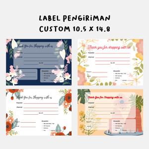 Harga part 1 stiker label pengiriman custom murah online shop   chromo | HARGALOKA.COM
