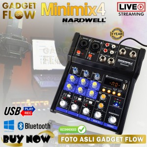 Harga mic mixer hardwell minimix 4 soundcard audio interface 4 | HARGALOKA.COM