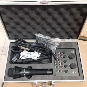 Harga paket soundcard v8 plus mic dan koper audio external sound card | HARGALOKA.COM