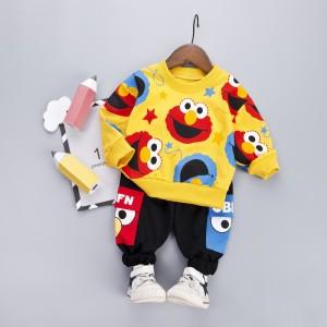 Harga setelan baju sweater celana panjang import anak laki balita cowok l16   kuning size | HARGALOKA.COM