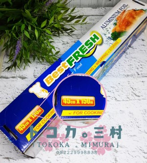 Harga aluminium foil roll best fresh 150m   alumunium pembungkus makanan   45 cm x 150 | HARGALOKA.COM