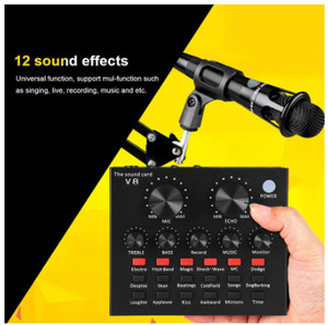 Harga sc91 portable set soundcard v8 plus mic and handsfree bonus   HARGALOKA.COM