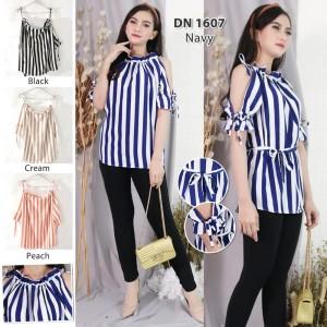 Harga striped top blus fashion blouse casual   all size | HARGALOKA.COM